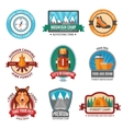 Hiking emblem set vector image
