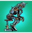 Robot thinker artificial intelligence progress vector image