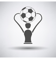 Soccer cup icon vector image vector image
