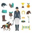 Jockey Icons Flat vector image