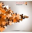 Abstract background puzzle pieces vector image