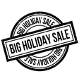Big Holiday Sale rubber stamp vector image