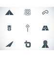 black road icons set vector image