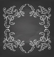 decorative frame on chalkboard vector image