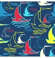 Seamless pattern with decorative ships vector image