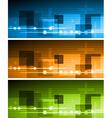 Hi-tech banners vector image