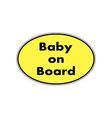 Baby on board sticker vector image vector image