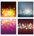 Set of abstract bokeh backgrounds vector image vector image