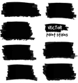 Black paint spots set vector image