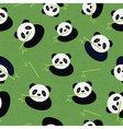 Seamless panda bear pattern vector image