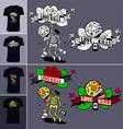 Skeletons T-shirt Love Kills 380x400 vector image