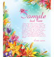 Background of lilies and irises flowers vector image vector image