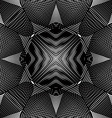 pattern with black graphic lines kaleidoscope vector image vector image