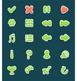 Set with interface buttons with icons for game vector image vector image