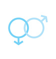 two males gender signs sexual symbols valentines vector image vector image