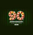 90 years anniversary banner ninety vector image