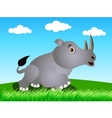 rhino in the wild vector image vector image