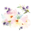 Flowers watercolor vector image