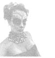 Beautiful and elegant muertos or Sugar Skull Lady vector image