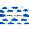 cloud storage background with clouds in the sky vector image