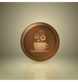 Cup of coffee icon for app or web design vector image