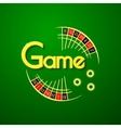 Game logo vector image