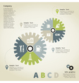 Info graphic gear wheel vector image