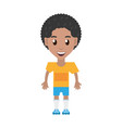 isolated man player soccer cartoon vector image