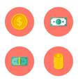 Money Circle Flat Icons Set vector image