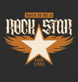 rock star lettering vector image