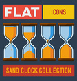 Set of flat sand clocks vector image
