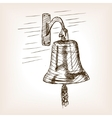 Ship bell sketch style vector image