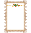vintage christmas page vector image