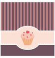 retro muffin cupcake invitation vector image vector image