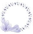 crocus and swallow frame vector image