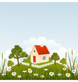 Summer house vector image