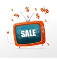 Tv sale vector image vector image