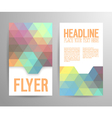 Abstract flyer template with place for text vector image