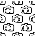 Outline camera seamless pattern background vector image vector image