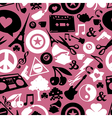 Different objects on pink background vector image