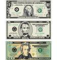 American dollar bills vector image