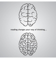 Brain background vector image