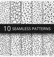 funky memphis seamless patterns 80s and vector image