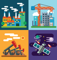 Industry landscapes and new technology vector image