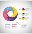 infographic business diagram with information vector image