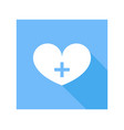 medical heart icon vector image