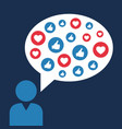 social sites user and their emotions - opinions vector image