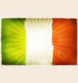 vintage irish flag poster background vector image