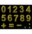 volume metal digits vector image