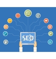 SEO infographic template vector image